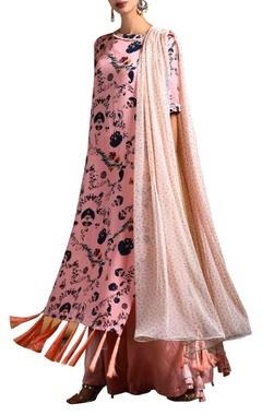 pink tassel kurta & palazzos