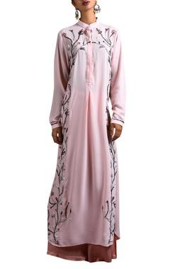 pink long kurta & palazzo pants