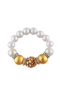 white diamante & pearl bracelet