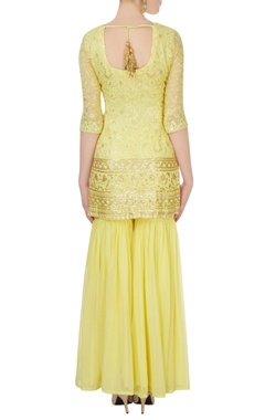 Lemon kurta & mint green sharara pants