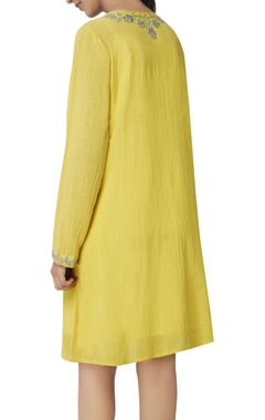 mustard sequin embroidered tunic