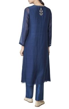 Blue chanderi silk kurta