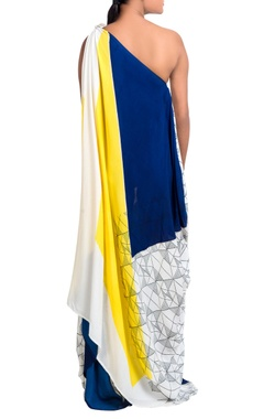 Multicolored draped style dress
