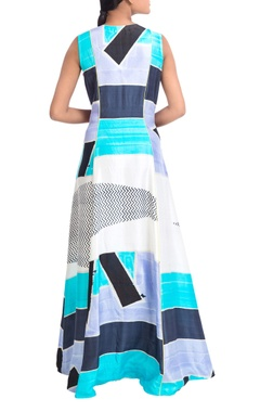 Multicolored wrap style dress
