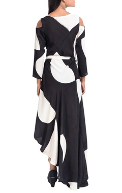 black & white asymmetric dress