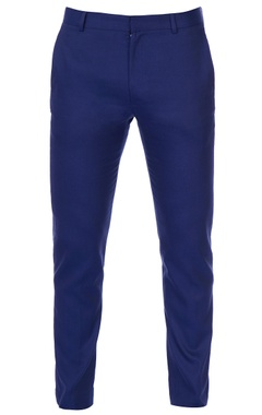 Deep blue slim fit trousers