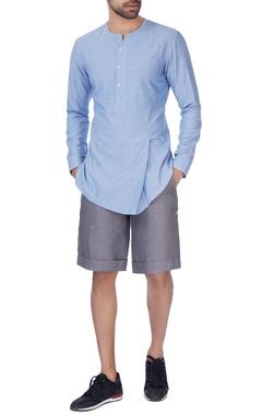 Blue overlap shirt