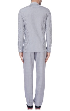 White & blue pinstripe formal shirt