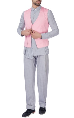 Pink waistcoat cotton jacket