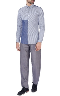 blue striped style formal shirt