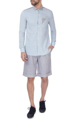 Grey checkered shorts