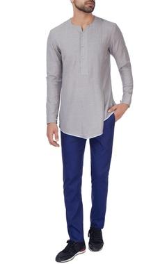 Grey kurta style shirt