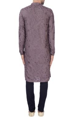 Purple kashmiri embroidered kurta