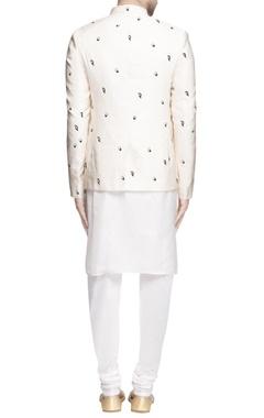 vanilla white bandhgala with kurta