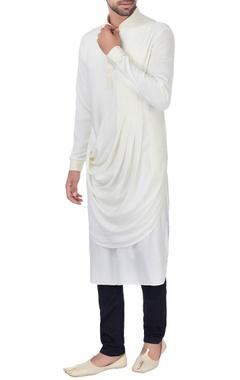 White drape style kurta