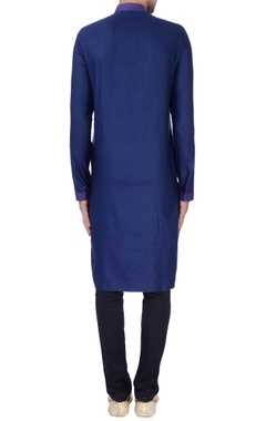 blue textured with anchoring kurta