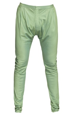 Green cotton silk churidar pants
