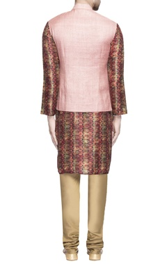 Light pink matka silk jacket