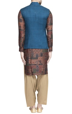 Green matka nehru jacket