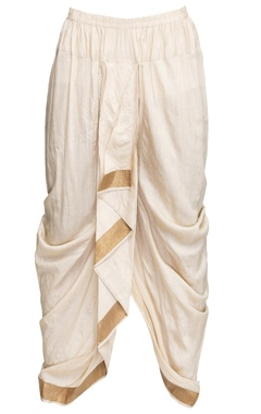 White draped dhoti pants