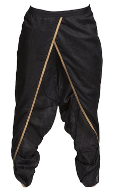 Black draped dhoti