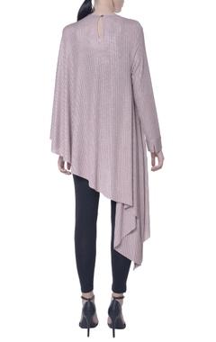 lilac shimmer asymmetric cape