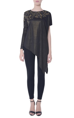 Metallic black shimmer blouse