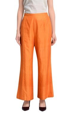 Orange wide legged trousers
