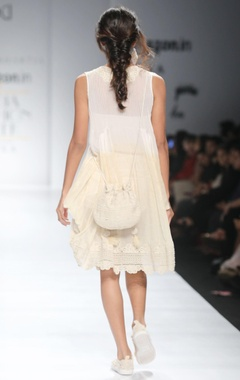 White dhoti style tunic