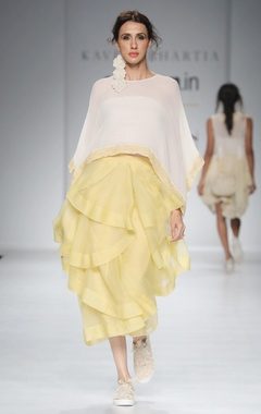 White chiffon top & skirt