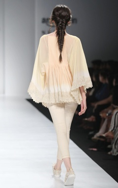 White & gold ombre blouse and pants