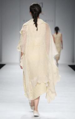 Gold rayon maxi dress