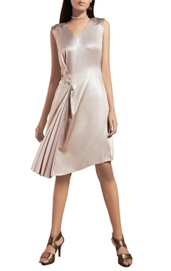 Silver metallic short dress
