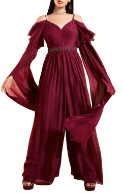 Plum purple wide legged jumpsuit