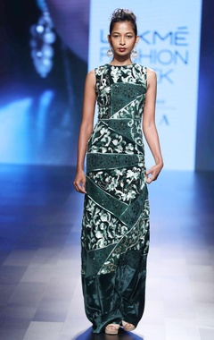 green turkish designed gown