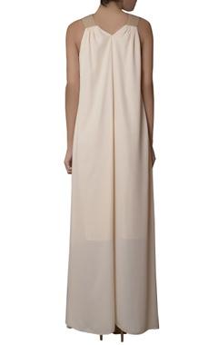 Offwhite asymmetric dress