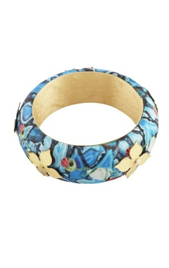 Blue floral printed bangle