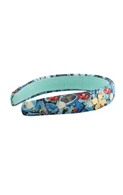 Blue floral printed hairband
