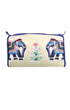 Cream eheravat travel pouch