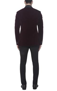 burgundy brown tuxedo jacket
