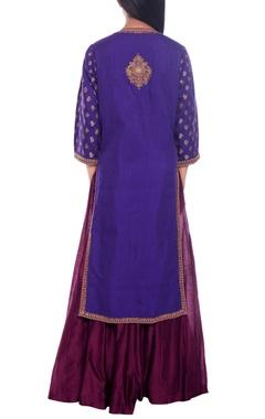 purple pathani style kurta & lehenga