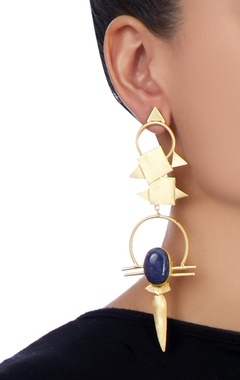 gold plated long earrings