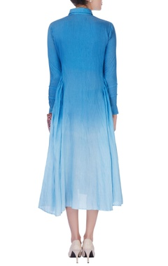 blue omber effect dress