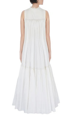 white hand embroidered dress