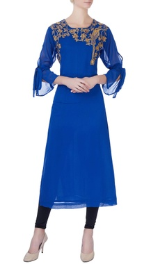 royal blue georgette kurta