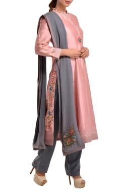 Pink chanderi silk kurta set