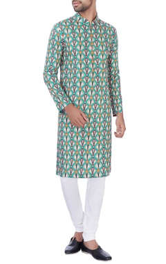 NAUTANKY - Men Multicolored cotton kurta & churidar