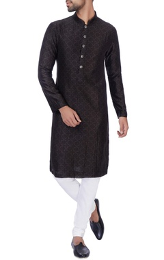 NAUTANKY - Men Black digital printed kurta & churidar