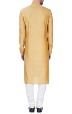 Gold-beige kurta with churidar pants