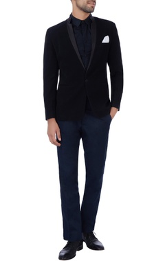 Manoviraj khosla Black pocket square jacket